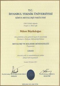 MÜMİN SEKMAN 1-İTÜ Diploma